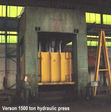 1500 ton used VERSON hydraulic press for sale