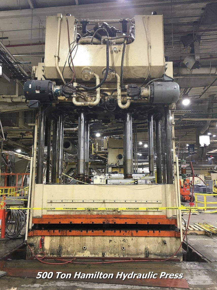 500 Ton 1996 Used  Hamilton Hydraulic press