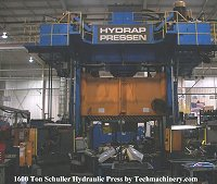 used 1600 Ton Schuller Hydraulic Press for sale. Click for large view