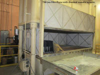 used Sheridan Grey 750 ton molding press with upward acting bolster and cooling tower for sale