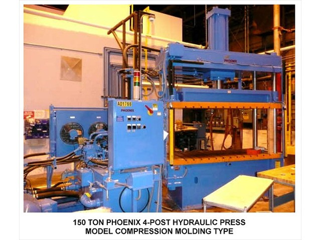 150 TON PHOENIX 4-POST HYDRAULIC compression molding PRESS