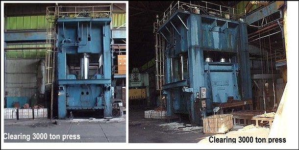 USED CLEARING HYDRAULIC 3000 TON PRESS for sale<br/>