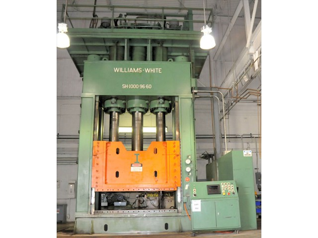 used 1000 ton Down acting hydraulic press made by Williams and White