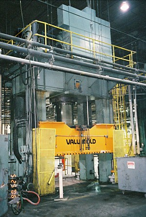 1500 Ton Press Hydraulic Compression Molding Erie 4 Post Valu-Mold