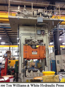 used Williams and White 500 ton hydraulic press for sale