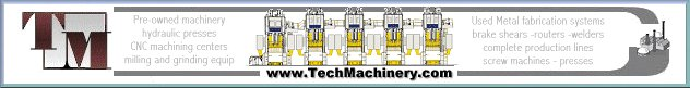 Tech Machinery Sales has 2 wide bed Hydraulic straight side presses for sale